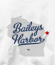 Baileys Harbor, Wisconsin WI MAP Souvenir T Shirt All Sizes & Colors