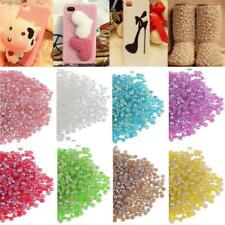 1000pcs Wholesale Acrylic Half-round Flatback Pearl Beads For Nail Art Phone