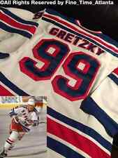 NEW Wayne Gretzky New York Rangers Vintage Men's White/Road Fight Strap Jersey