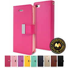 GOOSPERY® Rich Diary PU Leather Wallet Case Flip Cover For Apple iPhone 5 5s SE
