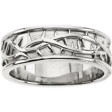 Thorn Design Band Ring 14K Yellow or White Gold Ladies and Gents