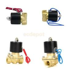 """Brass 1/2"""" or 1/4"""" Electric Solenoid Valve Adapter Water Air Fuels Gas 2-Way"""