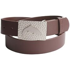 Simms Fly Fishing Big Sky Leather Belt - Zinc Alloy Trout Buckle - L or XL - NEW