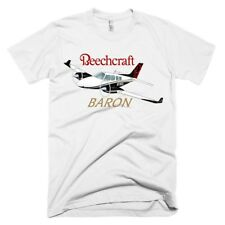Beechcraft Baron (Black/Gold) Airplane T-shirt- Personalized with N#