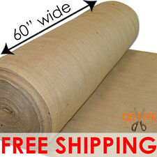 """NATURAL BURLAP PREMIUM VINTAGE JUTE FABRIC 60"""" WIDE UPHOLSTERY 10 OZ BY THE YARD"""