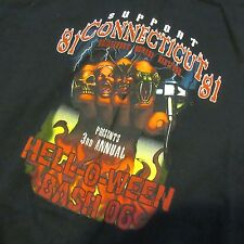 81% CONNECTICUT BRIDGEPORT NOMADS 2006 HELL O WEEN BASH ANGELS T-SHIRT MEN XL