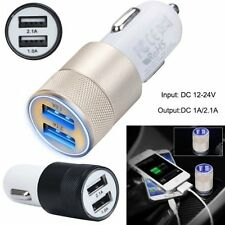 2.1A Dual Ports USB Car Charger Adapter For iPhone Samsung Android IOS Universal