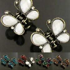 ADD'L Item FREE Shipping - 2 Antiqued Rhinestone Crystal Hair Claw Clip