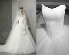 High quality ball gown style white ivory  Wedding dress bridal gown size 4-16