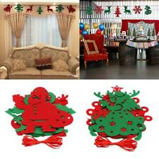 Christmas Tree Party Mall Wall Pennant Door Hanging Banner Bunting Flag Decor