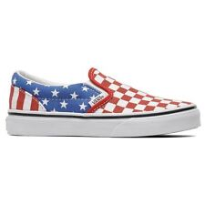 New Vans Classic Slip - On White Red Blue Unisex Shoes Trainers Low VZMRFP1