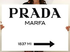 Prada Marfa Gossip Girl sign, painting canvas art, wall art, home decor -00