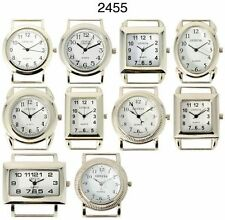 Wholesale Lot of Silver Tone Solid Bar Classic Beading Watch Faces USA Seller