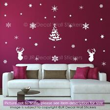 65 Snowflakes Christmas Vinyl Wall Art Sticker Xmas Shop Window Decor Wall Decal