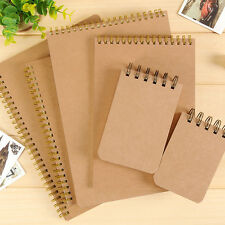 Kraft Cover Notebook ruled 100gsm white paper Spiral binding 48/70/100 Sheets