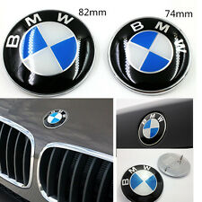 82mm/74mm for Car Emblem Chrome Hood/Front Badge Logo 2 Pins For BMW Trunk