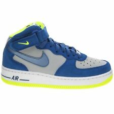 Nike Air Force 1 Mid Grey Blue Youths Trainers