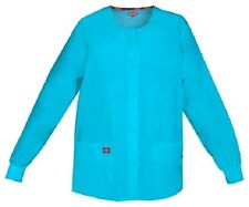 Scrubs Dickies Snap Front Warm-Up Jacket 86306 TQWZ Turquoise Free Shipping