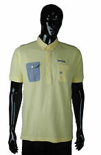 New Mens Duck and Cover Morton Polo T Shirt Pale Lemon 2XL Free Delivery