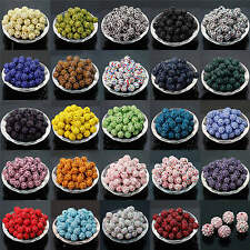 20/40/100Pcs Czech Crystal Rhinestones Pave Clay Round Disco Ball Spacer Beads