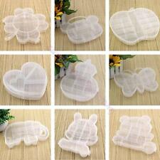 Plastic Box Jewelry Bead Storage Container Craft Not Adustable Compartments