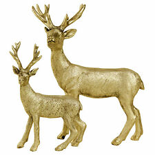 Gold Standing Stag Reindeer Christmas Ornaments Xmas Deer Decorations