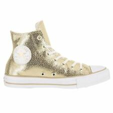 Converse All Star Stingray Metallic Embossed Gold Womens Trainers