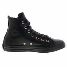 Converse Chuck Taylor All Star Winter Knit Fur Hi Black Womens Trainers