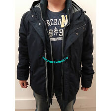 NWT AMERICAN EAGLE OUTFITTERS AEO MENS HOODED PARKA JACKET NAVY SIZE LARGE