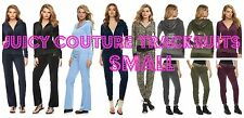 NWT Juicy Couture Velour Tracksuit Women Embellished or Solid Jacket Pants small