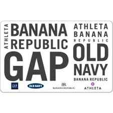$50 Gift Card for $42.50 includes GAP, Old Navy, Banana Republic - mail delivery