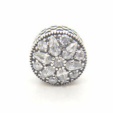 Authentic Genuine s925 Sterling Silver Radiant Bloom Crystal CZ Bead Charm