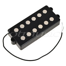 Black 5/6 String Bass Guitar Pickup Humbucker For Music Man Bass Parts Coil Tap
