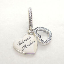 NEW Genuine Authentic S925 Sterling Silver Beloved Mother Clear Cz Dangle Charm