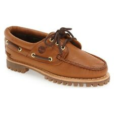 Timberland Women Flats Oxfords Heritage Noreen 3 Eye Boat Shoes Wheat