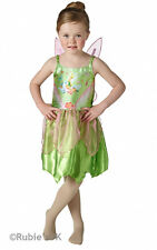 Classic Tinkerbell Fancy Dress Costume Girls Green Disney Costumes