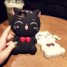 3D Cartoon Soft Silicone Rubber Gel Shockproof Cover Case For iPhone 7 7 Plus