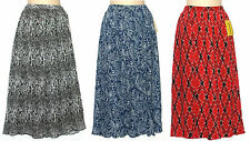 Cathy Daniels Black Blue or Red Long Pleated Full Skirt Womens S-XL NEW $50