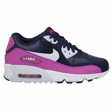 Nike Air Max 90 Leather Navy Youths Trainers