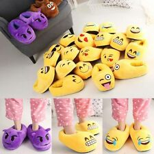 Emoji Cute Unisex Slippers Warm Winter Home Room Shoes Indoor Plush Slipper Gift