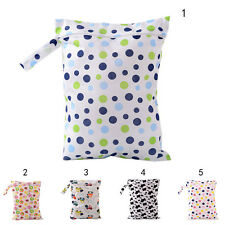 Baby Protable Nappy Washable Nappy Wet Dry Cloth Zipper Waterproof Diaper Bag  W