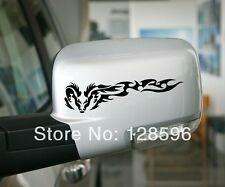 2 Pcs Tribal Dragon Wing Car Mirror Sticker Cool Race Rearview Car Window Decal
