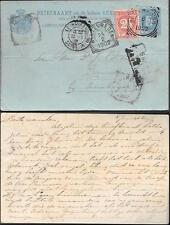 Suriname uprated Postal Stationery Card to Indonesia 1902