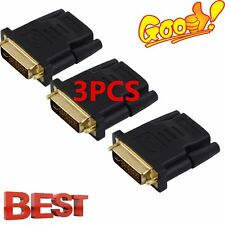 3PCS DVI Male to HDMI Adapter Golden-Plated Converter Support For HDTV 1080P LCD