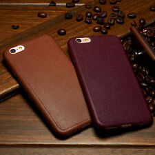 Real Luxury Ultra-thin Leather Soft TPU Back Case Skin Cover For Iphone, Samsung