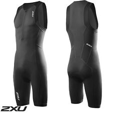 2XU Men's Active Trisuit Black Triathlon Suit mt3105d RRP$150
