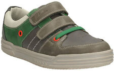 Clarks CHAD SKATE Grey Combi Leather Riptape Trainers Shoes 9 - 6 F G Fit BNIB