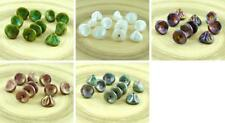 12pcs Czech Glass Large Bell Flower Beads Lily Of The Valley Flower Caps 8mm x 1
