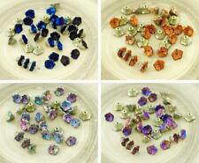 40pcs California Czech Glass Bell Flower Bead Caps 7mm x 5mm