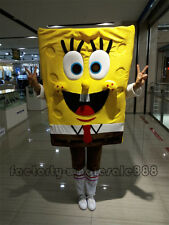 Hot Spongebob Squarepants Mascot Costume Halloween X'mas Fancy Dress Adult